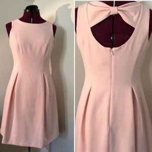 Vince Camuto blush fit & flare bow back dress